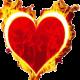 Coração com fogo